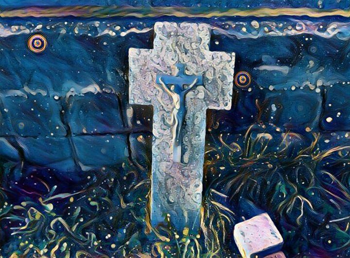 Cross at starry night - Danciatko