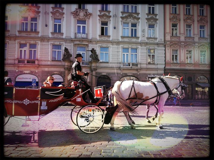 Carriage with horses - Danka Art