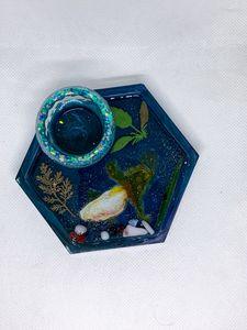 Koi pond jewelry organizer,Ring dish