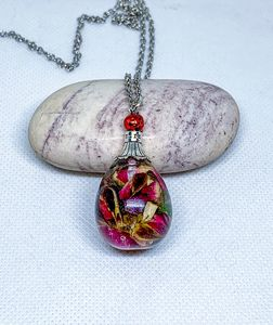 Real rose necklace Real flower gift