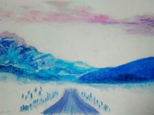 Cold Mountain Road - Cummings Art Gallery