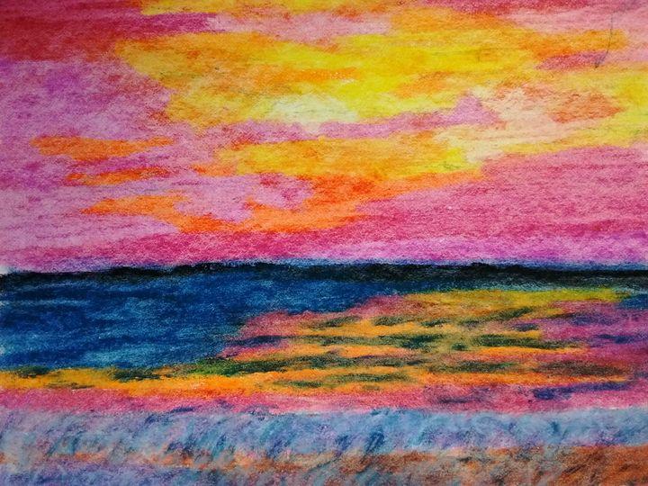 Ocean Sunset - Cummings Art Gallery