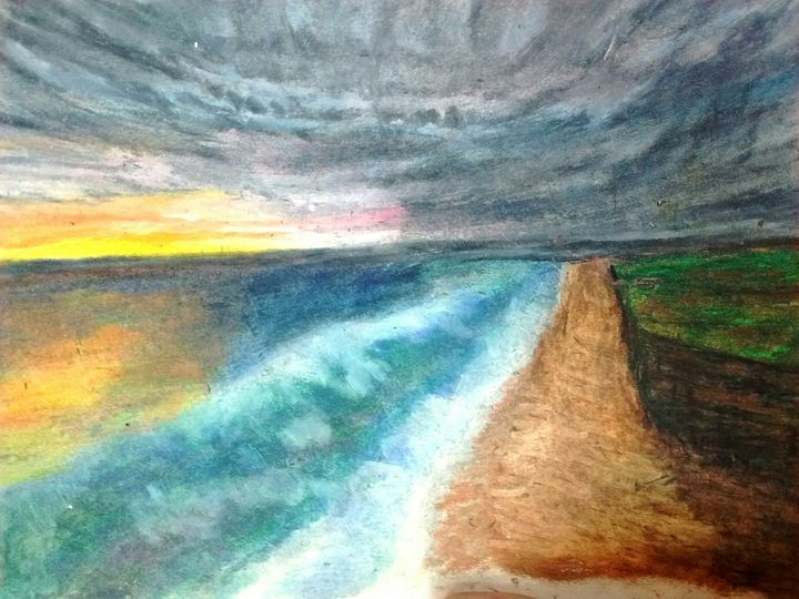 Ocean Sunset - Cummings Art Gallery