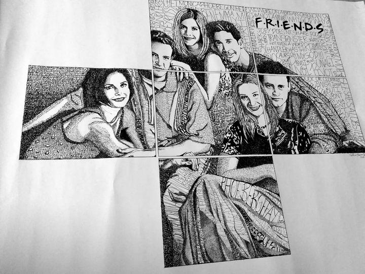 F.r.i.e.n.d.s. pen portrait - Vaps creation
