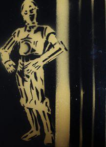 C-3PO Stencil