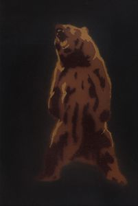 Bear Stencil 1 - Grizzly