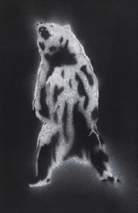 Bear Stencil 2 - Polar