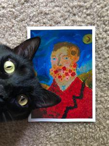 5x7 Van Gogh hand made digital print