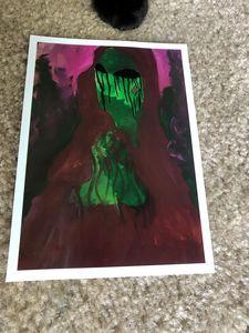 5x7 hand painted digital print