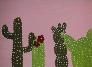 5x7 Cactus hand painted print
