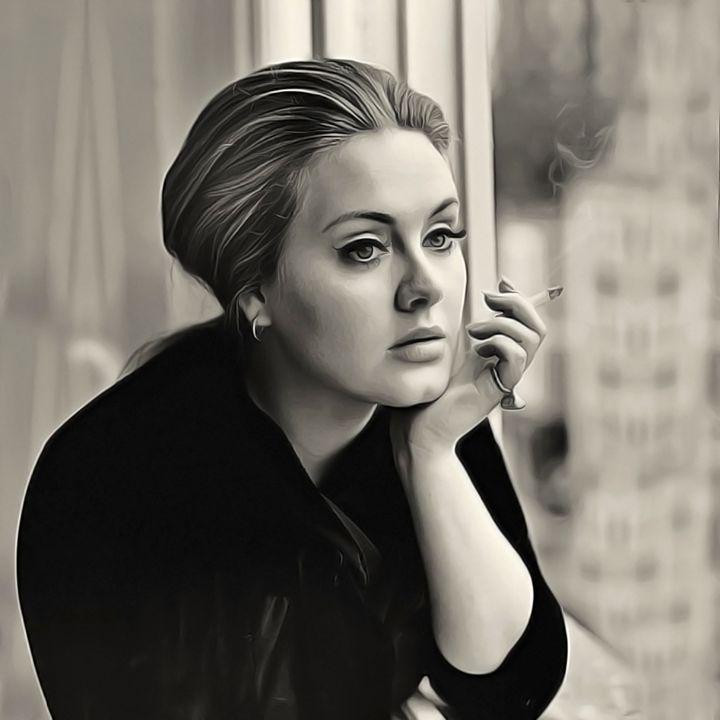 Adele - Celebrity - Oil Paint Art