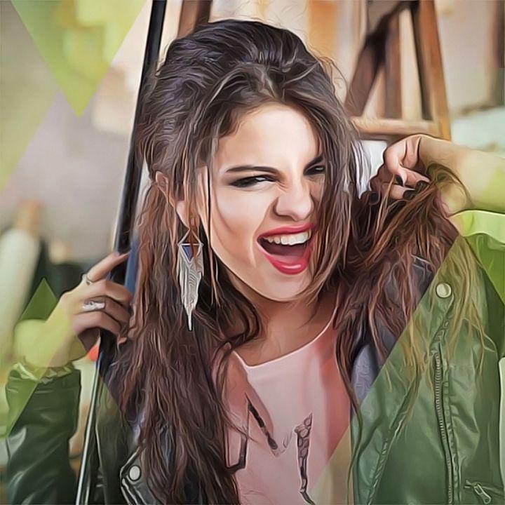 Selena Gomez - Celebrity - Oil Paint Art