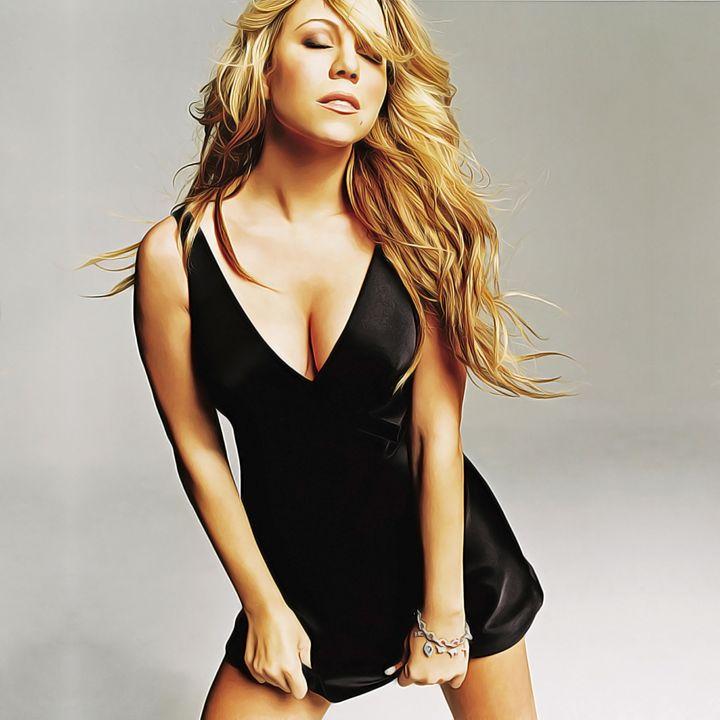 Mariah Carey - Celebrity - Oil Paint - Oil Paint Art
