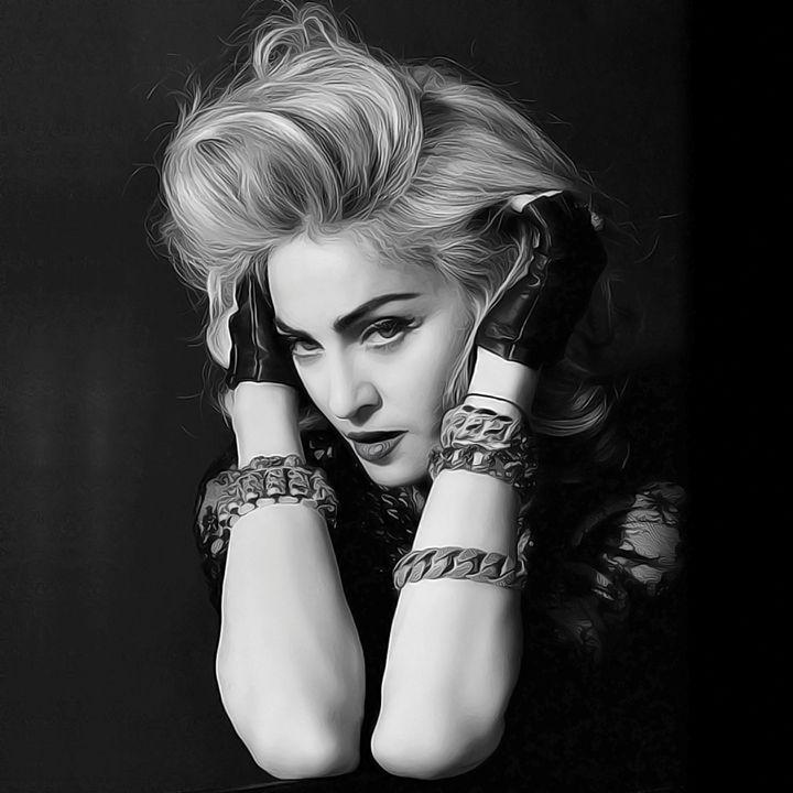Madonna - Celebrity - Oil Paint Art