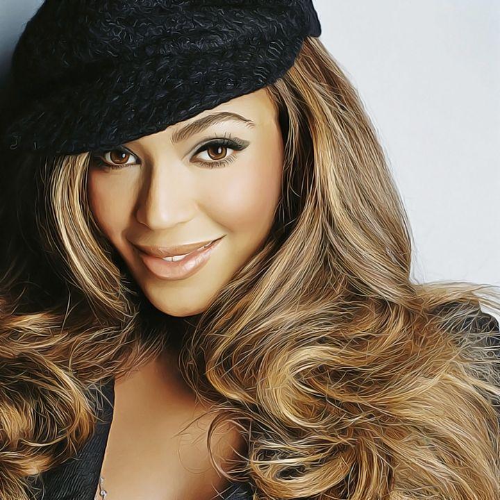 Beyonce Knowles - Celebrity - Oil Paint Art