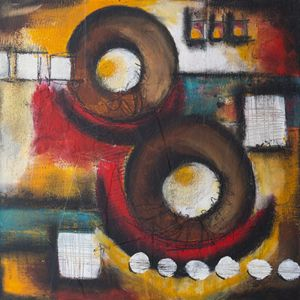 Squares and circles abstracts Mixed