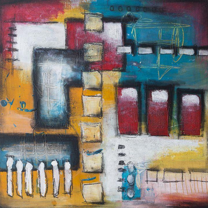 Squares abstracts Mixed media - Lidija Miklavcic