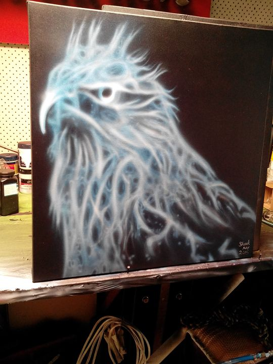 Blue bird - Skunk-Art