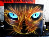 Firecat on canvas