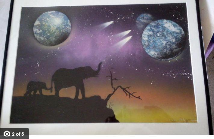 Africa by moonlight - Skunk-Art