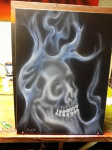 Ghostly flaming skull