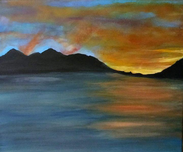 Alaska sunset from the ship - My world!