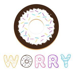 Donut Worry Shirt Design