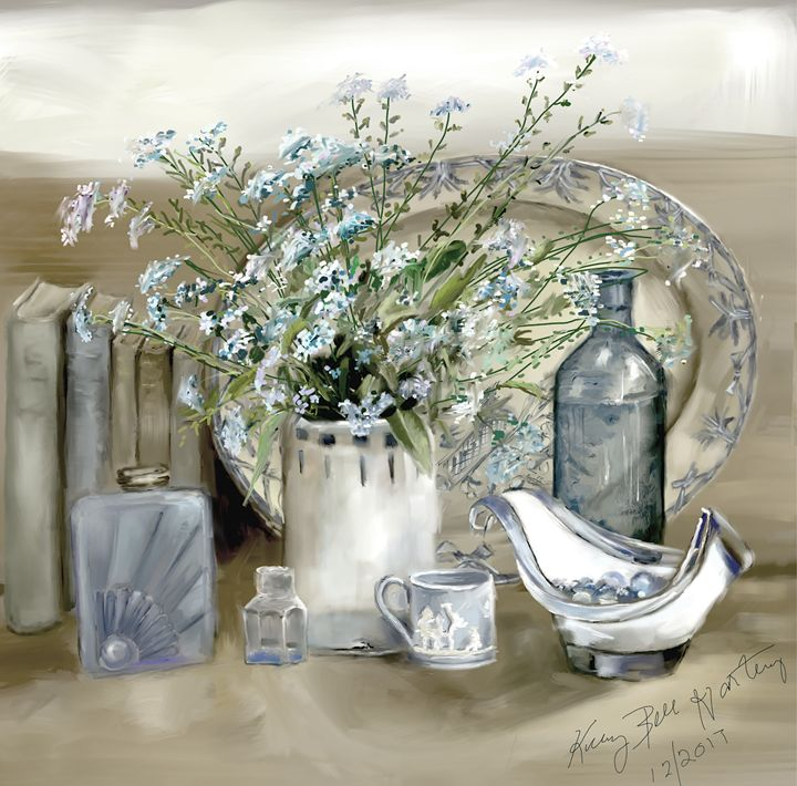 Still Life in Blue and White - Kelly Bell Hartley