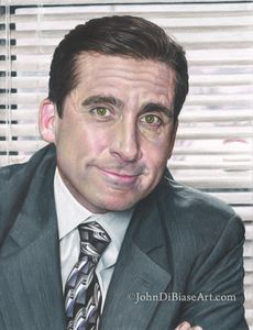 Print of Michael Scott in The Office