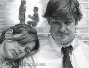 Drawing Print of Jim and Pam