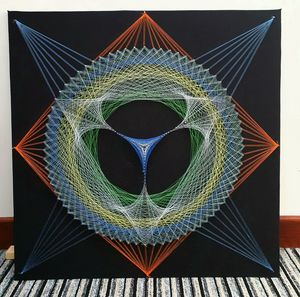 String art mandala - Omg design