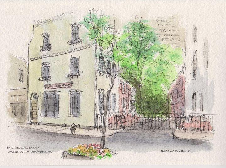 MacDougal Alley Greenwich Village - Harold Radgiff