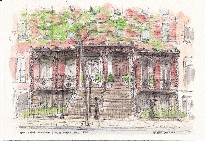 Nos. 3 & 4 Gramercy Park West - Harold Radgiff