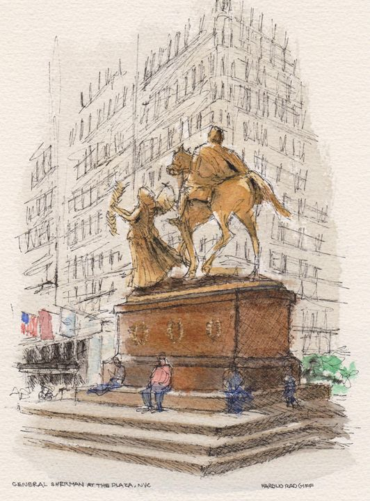 General Sherman at the Plaza - Harold Radgiff