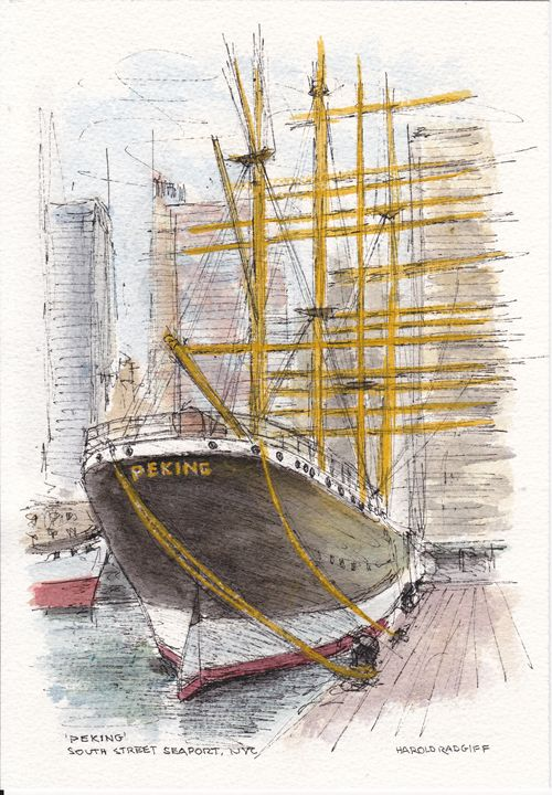 'Peking' South Street Seaport, NYC - Harold Radgiff