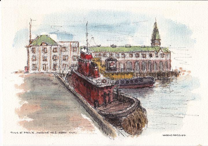 Tugs at Pier 'A' - Harold Radgiff