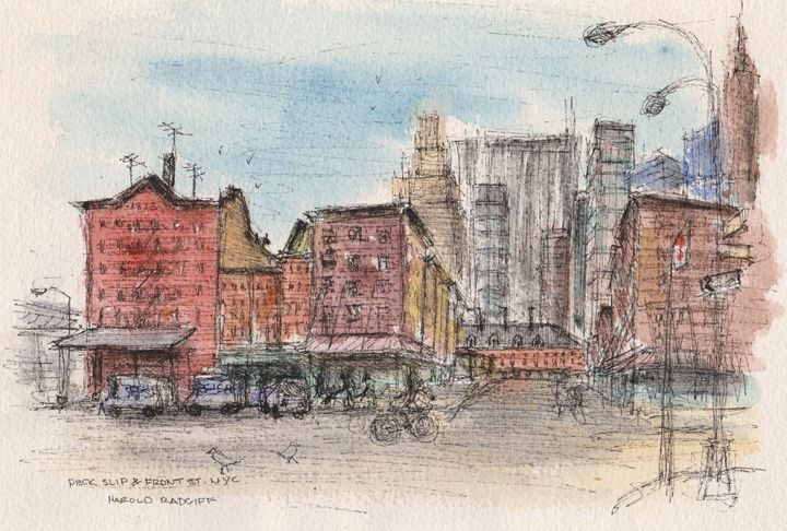 Peck Slip & Front St. - Harold Radgiff