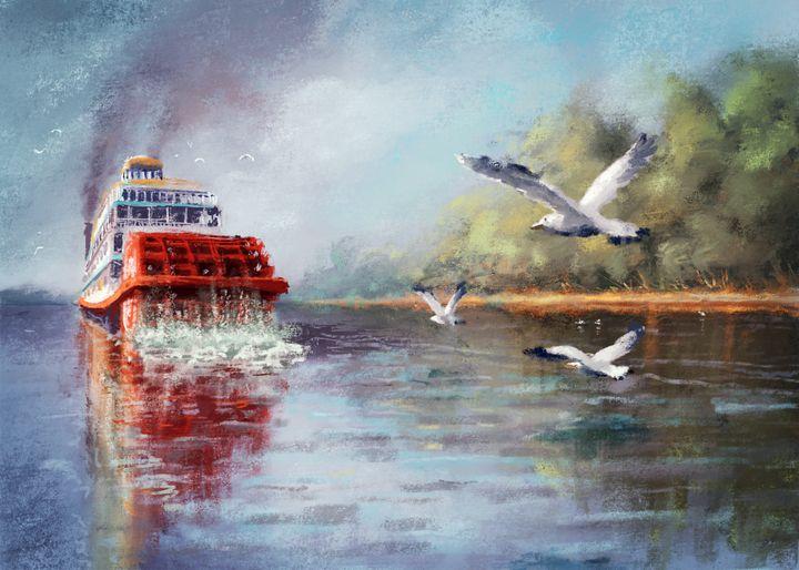 Old Boat on Mississippi - Udvardi