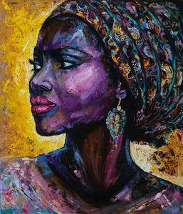 Violet Arabica - oil on canvas