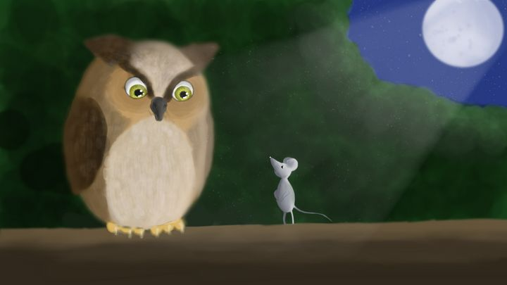 The Owl &The Mouse - Haylee's Art
