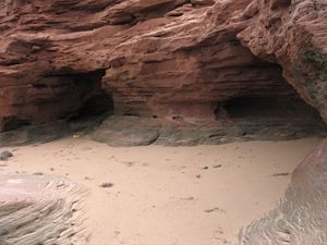 North Shore Beach Caves, PEI Canada
