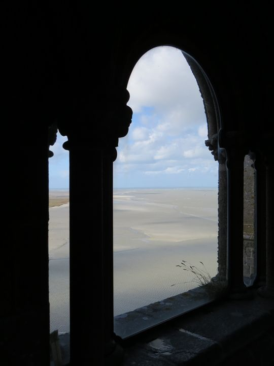 Mont-Saint-Michel, Beach Low Tide - Claude Chapdelaine Fine Arts
