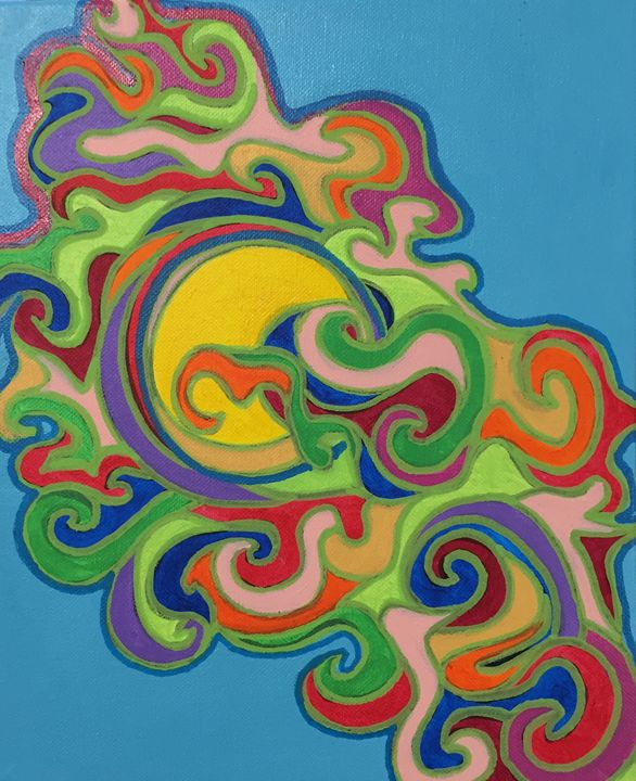 Colourful Clouds Embracing the Sun - Claude Chapdelaine Fine Arts