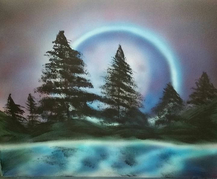 magical moonset - Christopher Morgan Designs