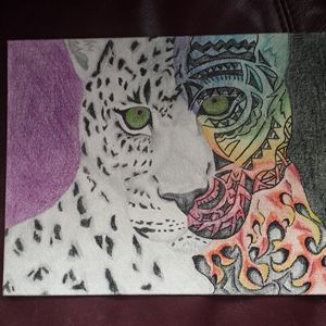 Snow Leopard, Haze - A.B. Artsy Things