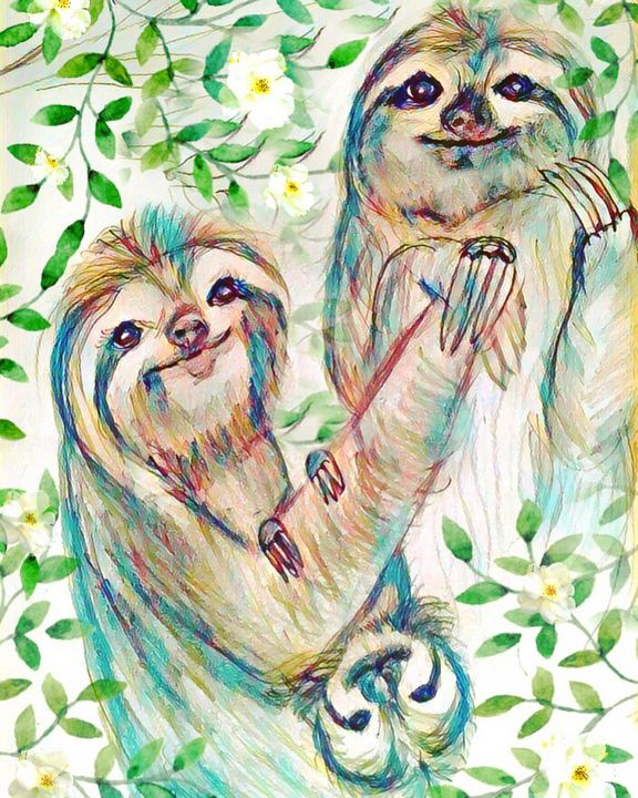 Sloth Family - Belle Fleurist