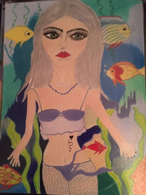 Young Mermaid - Art by Laura