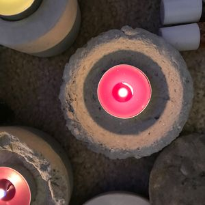 Organic Candle Holders/Candles