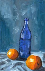 Glass + Oranges - Abbey Wineglass, an Artist