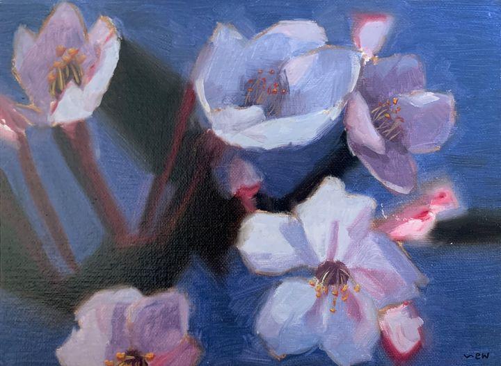 Lavender Flowers - Abbey Wineglass, an Artist
